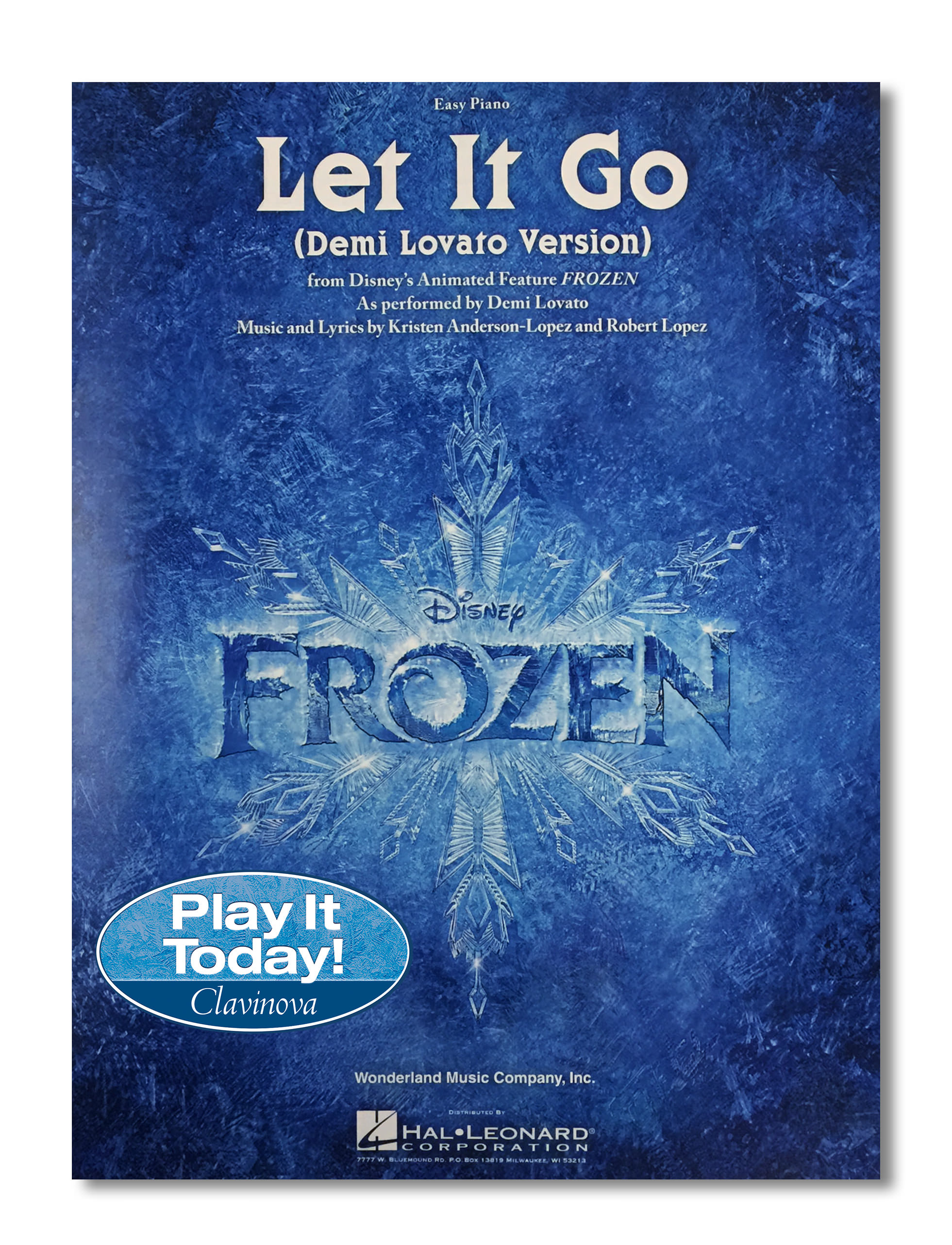 Frozen booklet with sticker