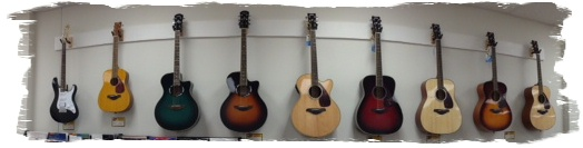 Panoramic Guitar Wall