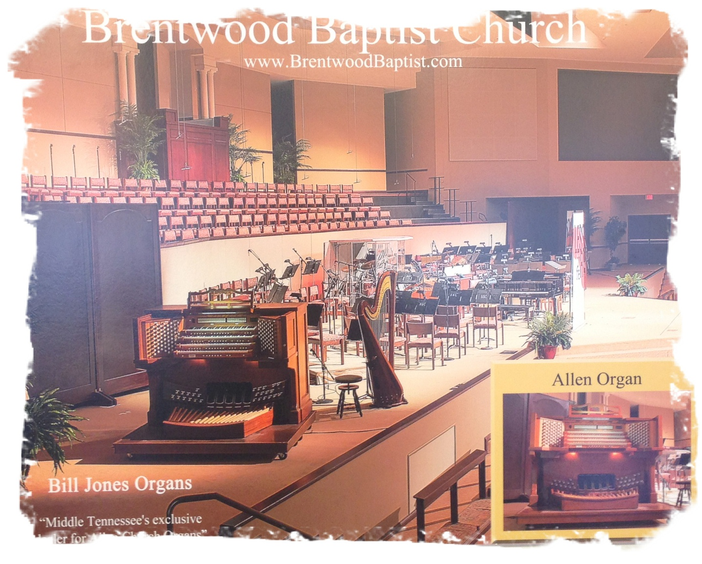Brentwood Baptist Church Custom Designed Allen Organs