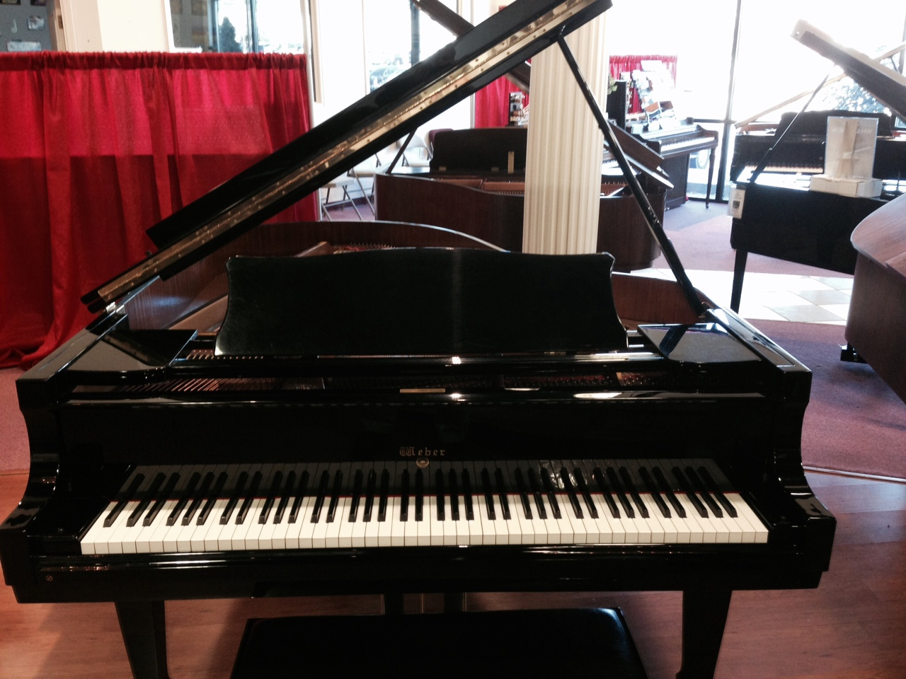 Weber 6 grand piano bill jones music for Yamaha music school locations