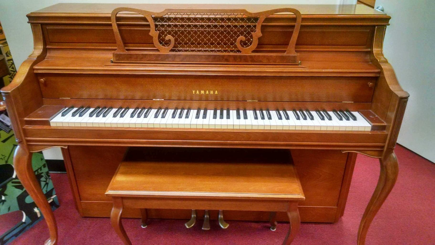 sold pre owned 1981 yamaha console piano bill jones music. Black Bedroom Furniture Sets. Home Design Ideas